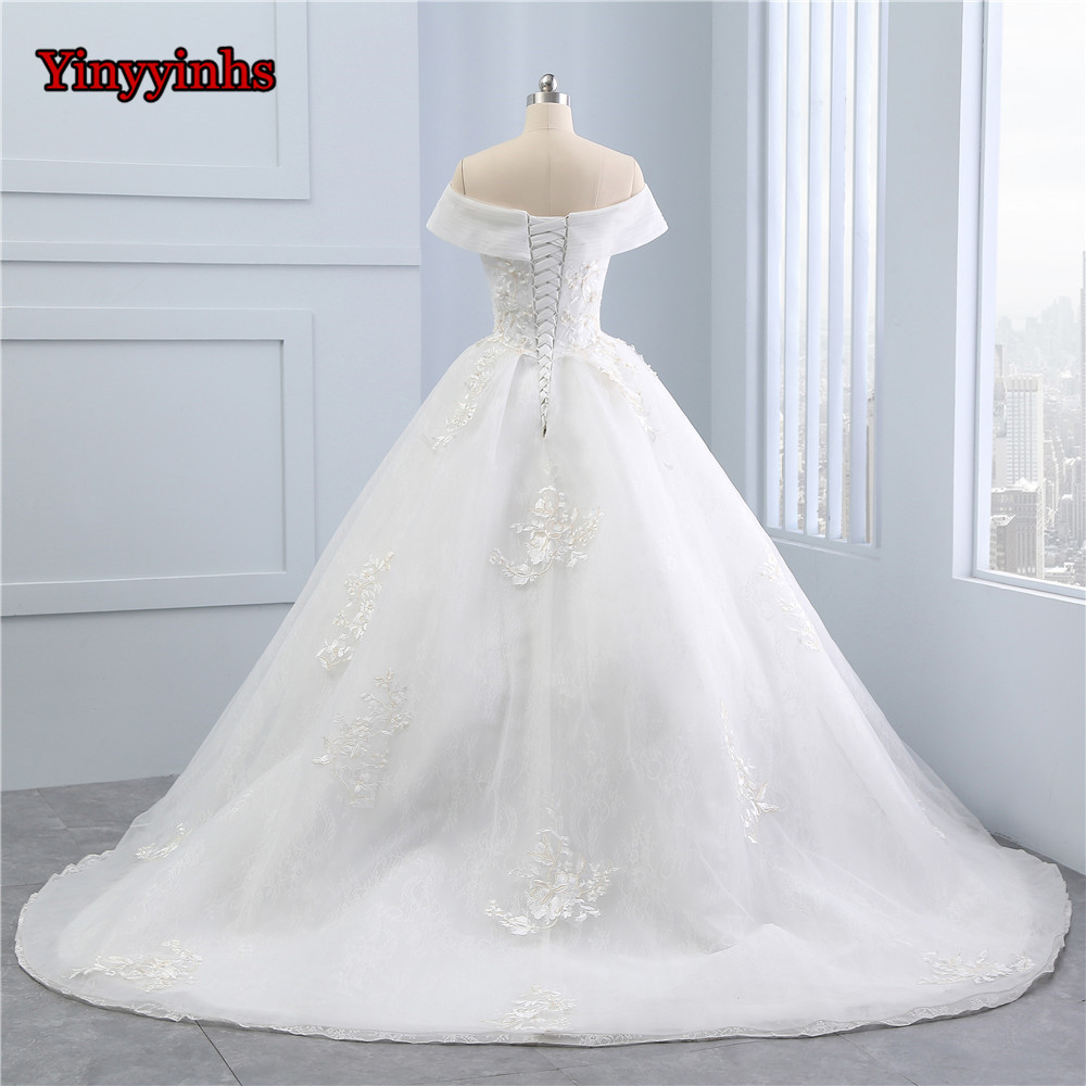 Yinyyinhs Elegant Flowers Lace Princess Wedding Dress Beading ...