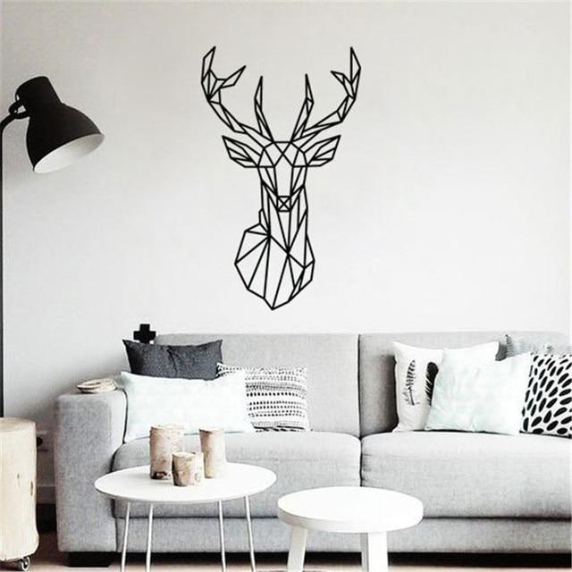 geometris minimalis nordic hewan rusa kepala diy wall sticker rh id aliexpress com