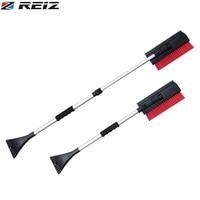 REIZ Multifunctional 3 In 1 Extendable Telescoping Car Ice Scraper Shovel Ergonomic Design Snow Brush Clean