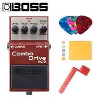 Boss BC 2 комбо привод педаль Комплект с выбирает, ткань для полировки и струны Уиндер