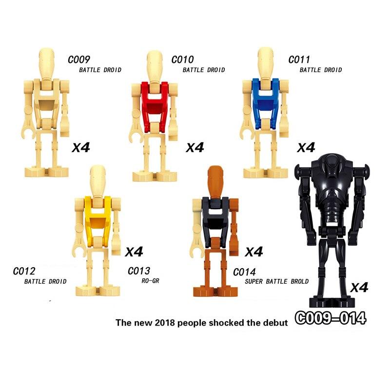 Оптовая продажа Звездные войны Боевой Дроид Ro-go строительные блоки игрушки для детей м ...