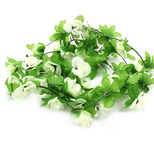 Image 5 - Fake Silk Roses Flower Ivy Vine Artificial Flowers With Green Leaves For Home Wedding Decoration Hanging Garland Home Decor