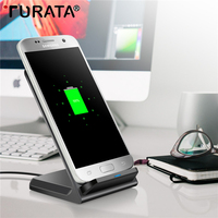 Turata QI Wireless Charger For Samsung Galaxy S8 Plus S6 S7 Note 8 Phone Wireless Charger