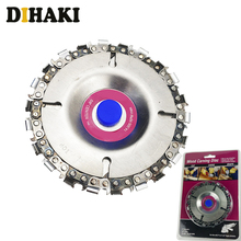 4 Inch Grinder Disc 22Tooth Fine Chain Saw Angle Carving Culpting Plastics Wood For 100/115