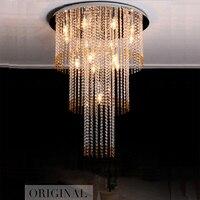Promotion Sales Flush Mount Modern Crystal Square Chandelier Lustre LED Living Room Lights