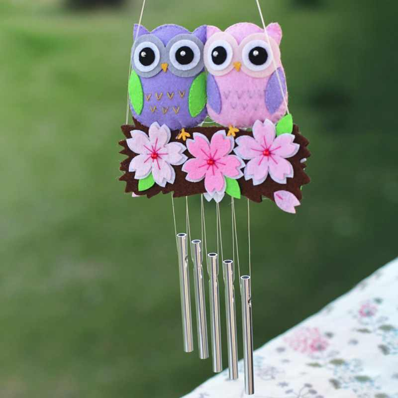 Cut Owl Ornaments Fabric Package Handmade Sewing Felt Cloth Garland Pendant Diy Crafts Home Decoration