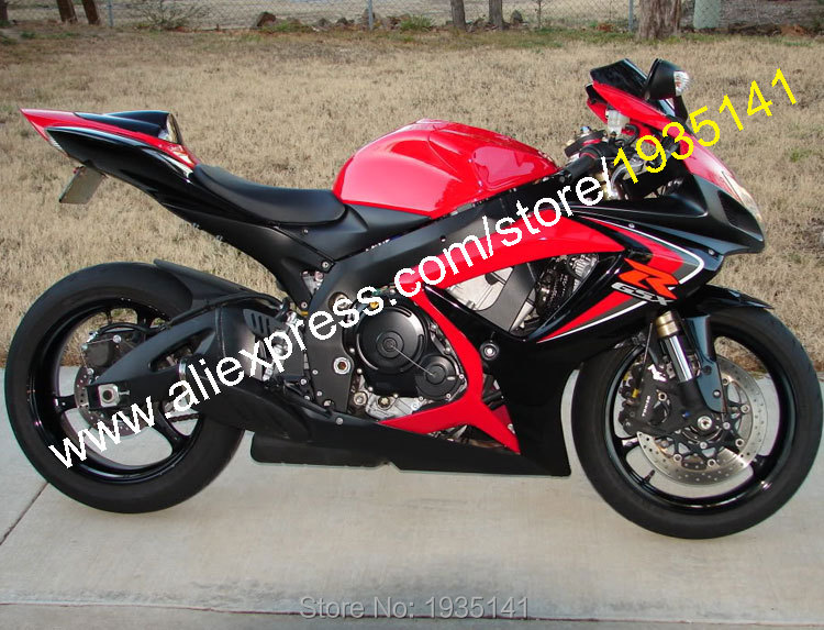 Hot Sales,For Suzuki GSX-R <font><b>600</b></font> 750 K6 2006 <font><b>2007</b></font> Parts <font><b>GSXR</b></font> <font><b>600</b></font>/750 06 07 Red Black Aftermarket <font><b>Fairing</b></font> <font><b>Kit</b></font> (Injection molding) image