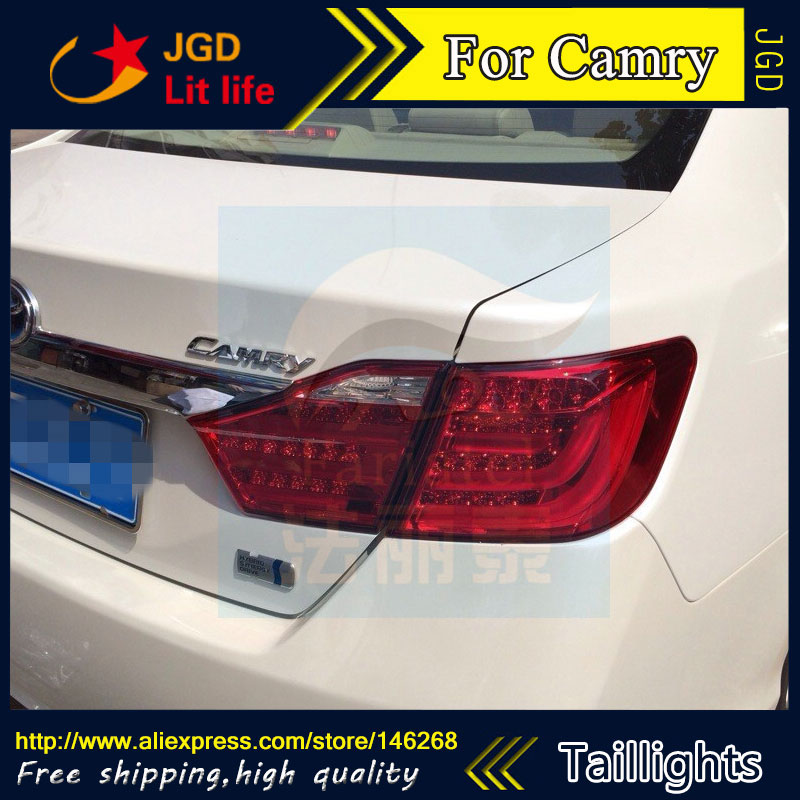 Car Styling tail lights for Toyota Camry 2012 2013 LED Tail Lamp rear trunk lamp cover drl+signal+brake+reverse car styling tail lights for toyota camry v50 2012 2014 led tail lamp rear trunk lamp cover drl signal brake reverse
