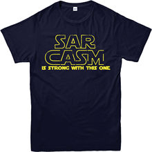 Star Wars T-Shirt,Sarcasm is Strong Yoda Spoof,Adult and kids Sizes Youth Round Collar Customized  free shipping