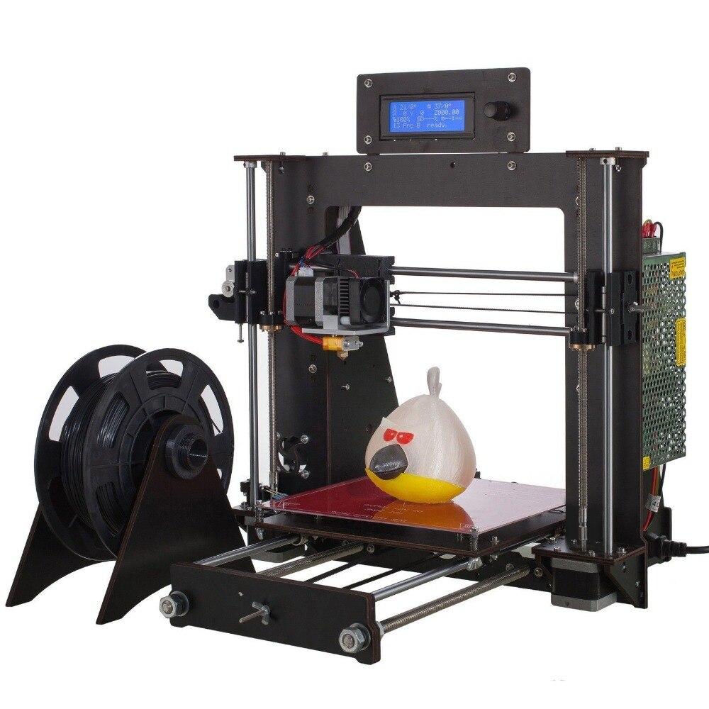 Prusa i3 Kit 3D Printer Wood Frame High Precision Impressora 2018 Hot Sell Machine