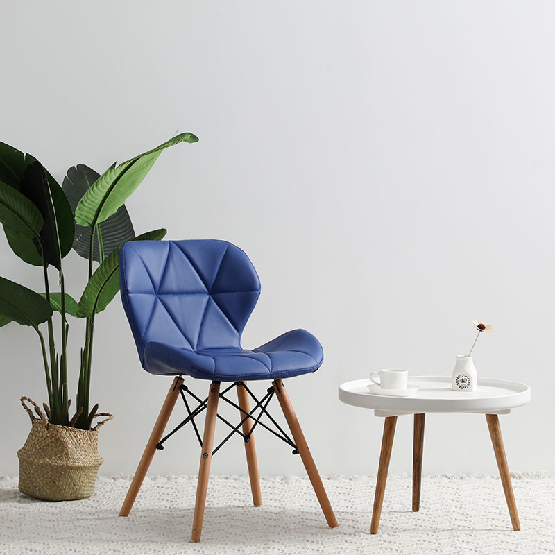 Современный минималистичный стол компьютерный стул домашний Ресторан обеденный стул из твердой древесины скандинавский диван спинка макияж пляж - Цвет: H