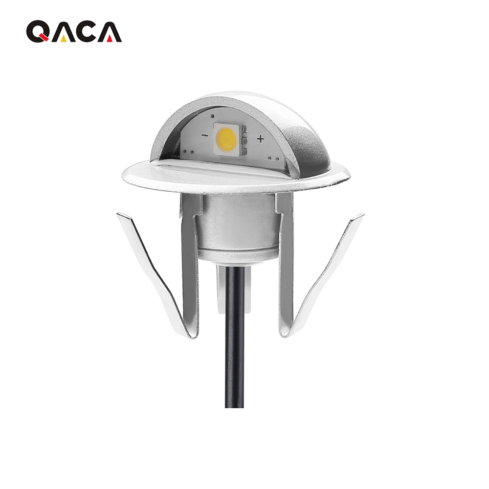 Strong-Willed Qaca Indoor Outdoor Ip65 Staircase Multi Color Rgb Led Deck Light 90 Degree Beam Angle Led Step Lamp Footlight Lighting Stairs Lights & Lighting