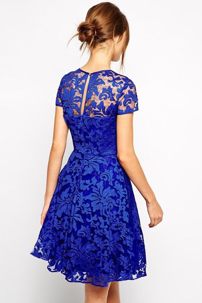 0e20e217352f womens casual dresses 2016 new arrival vestidos femininos Royal Blue Fairy  Lace Skater Dress mini dress sexy club wear 22007 on Aliexpress.com |  Alibaba ...