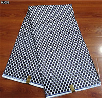 Hot Sale Latest Back And White Super Java Wax Fabric Veritable African Real Wax Prints Fabrics