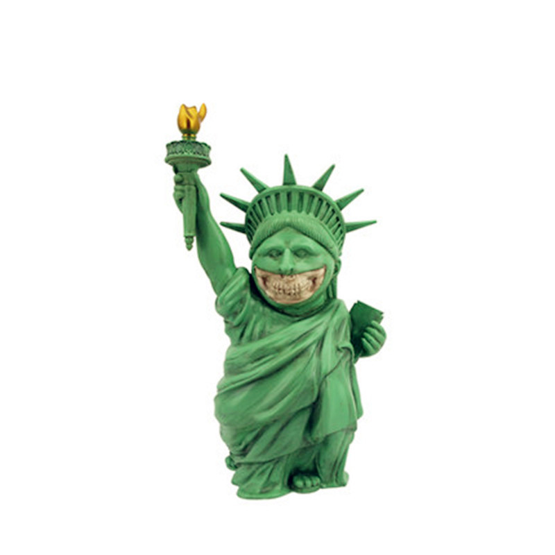 57CM Street Art Medicom Toy Statue Of Liberty Cosplay KAWS PVC Action Figure Collection Model Toy G1200 2 colour outer space trophy electroplating kaws bape milo kabinett ver medicom toy pvc action figure collection model toy g690