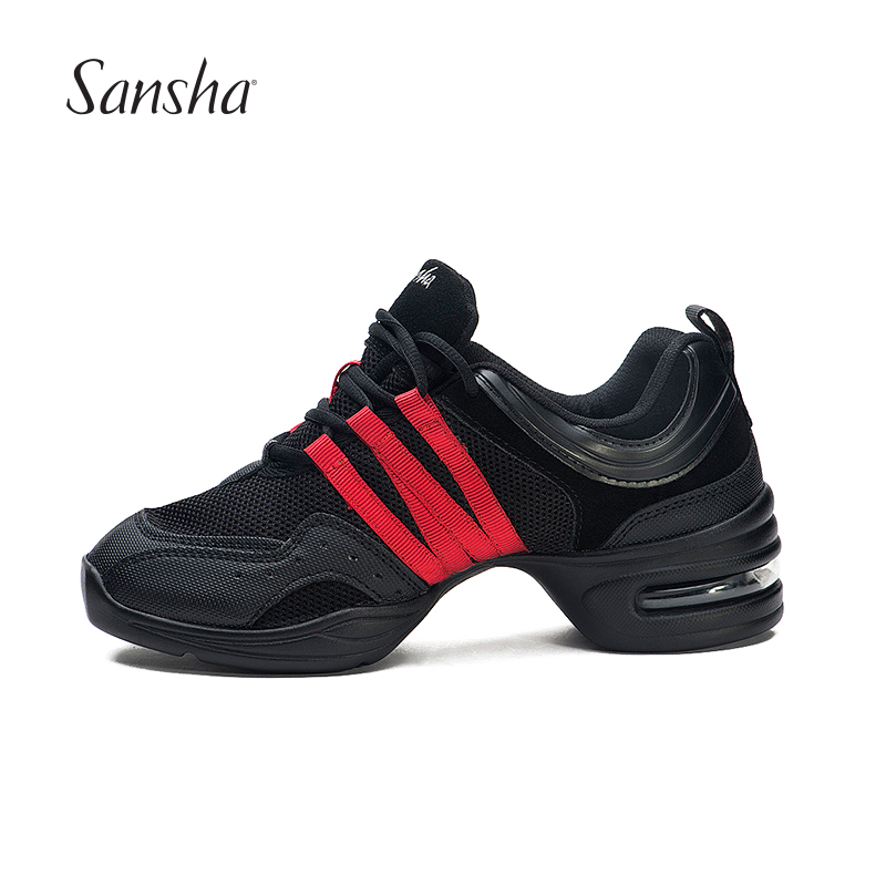 Sansha Top rated Promotion Breathable Mesh Cool Dance Sneakers Low Vamp Square Dance Shoes Salsa For