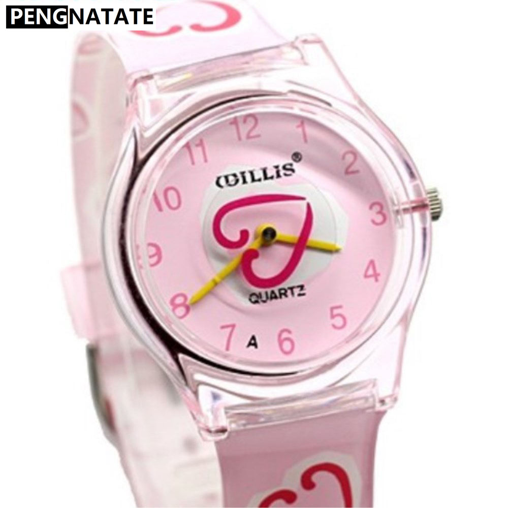 WILLIS Ladies Watch Fashion Lovely Pink Women Heart-shaped Student Girls Sport Watches Clock Gift Relogio Masculino PENGNATATE 05 lovely pink
