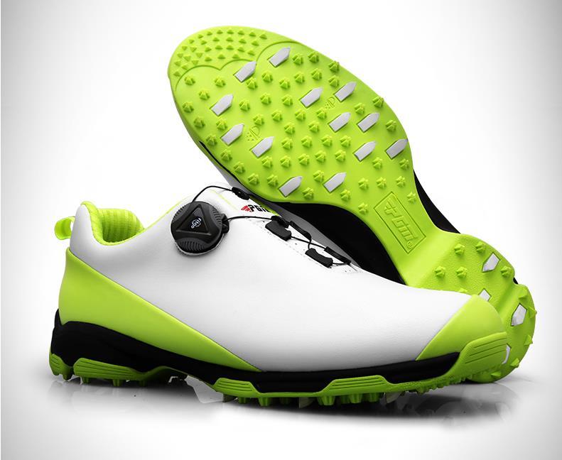 Обувь для гольфа Для мужчин Водонепроницаемый спортивная обувь ручки пряжки обувь сетчатая подкладка дышащая противоскользящие кроссовки...