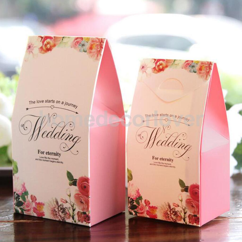 50pcs Wedding Anniversary Bridal Shower Party Favor Boxes Candy ...