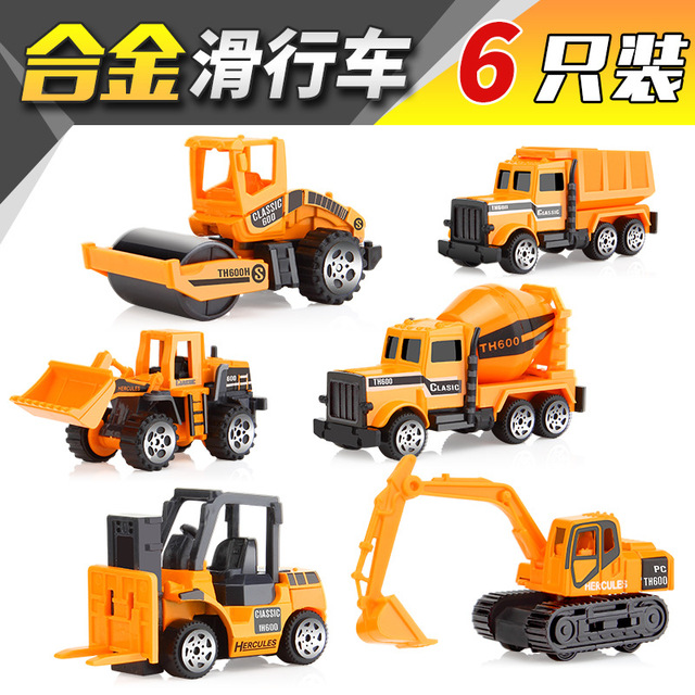2018 simulation alloy engineering vehicle model set transport car car children early education toys