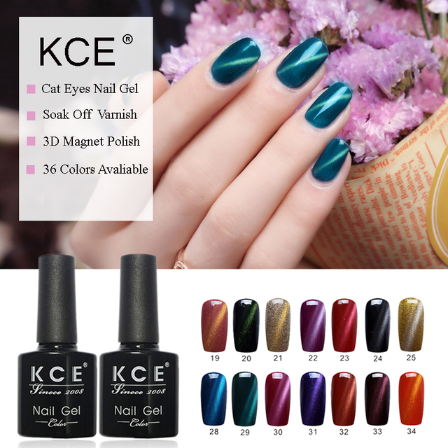 KCE Cat Eyes Gel Polish 3D Magnetic Nail Polish Magnet Gel UV Gel ...