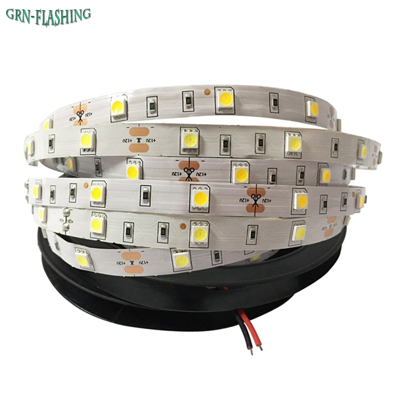 DC12V SMD 5050 LED strip light 30 LED / M 5M led nastro flessibile a nastro, RGB, bianco, blu, rosso, luce decoartion interna