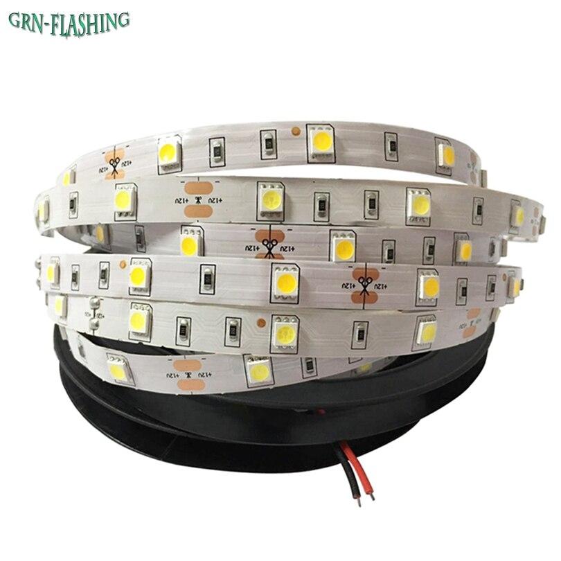 DC12V SMD 5050 LED strip light 30 LED/M 5M led flexible ribbon tape, RGB,White,Blue,Red,indoor decoartion light