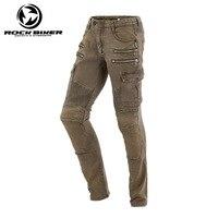 Рок Байкер Мотоцикл Джинсы Для мужчин Для женщин мотоцикл Штаны мотоциклетные защитные джинсы дамы дорога езда джинсы гонки Штаны Pantalon