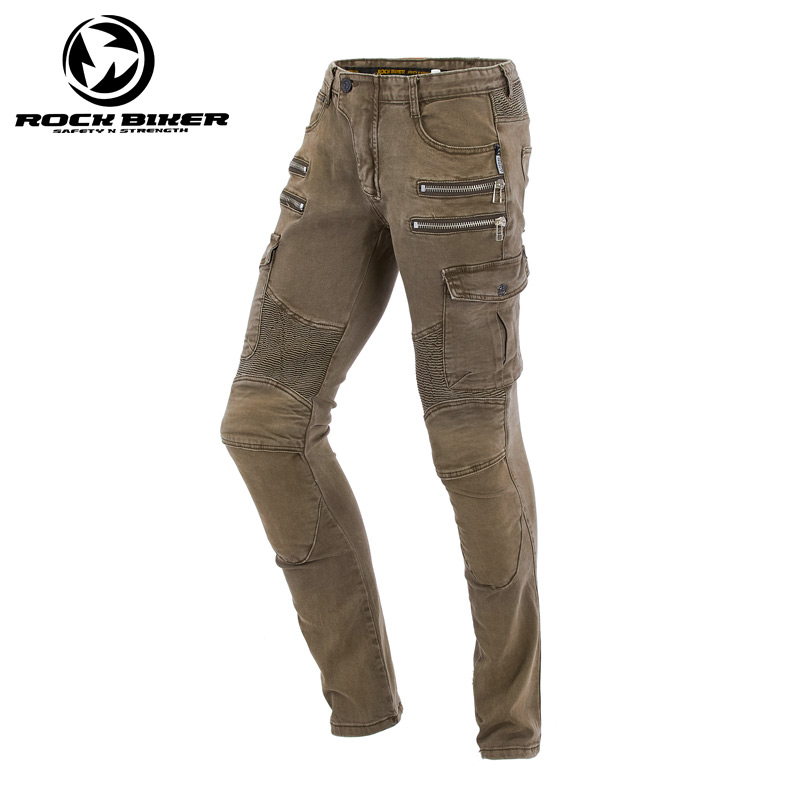 ROCK BIKER Motorcycle jeans Men Women Motorbike pants motorcycle protective jeans ladies road riding jeans racing pants pantalon straight leg destroyed biker jeans