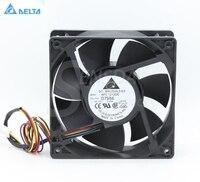 デルタAFC1212DE d6168 12センチ120ミリメートル12038 dc 12ボルト3.0a強力なケースインバーターpwm cpuコンピュータラジエーター冷却ファ