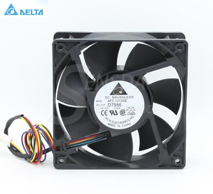 Delta AFC1212DE D6168 12CM 120MM 12038 DC 12V 3.0A powerful case inverter pwm cpu computer radiator Cooling fans original delta ffb1224she 12cm 120mm 12038 120 120 38mm 24v 1 20a cooling fan