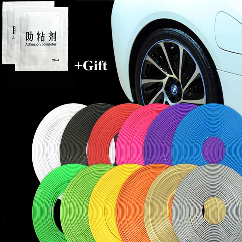 Auto Styling Fahrzeug Farbe Rad Felgen Protector Reifen Schutz Linie Rubber Moulding Trim DIY Dekoration 12 Farbe