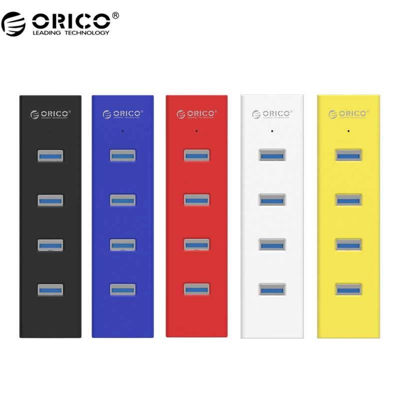 ORICO USB HUB with Power Port Portable USB 3.0 HUB 4 Port For Laptop/Ultrabook - Black/Blue/White/Yellow (H4013-U3-V1)
