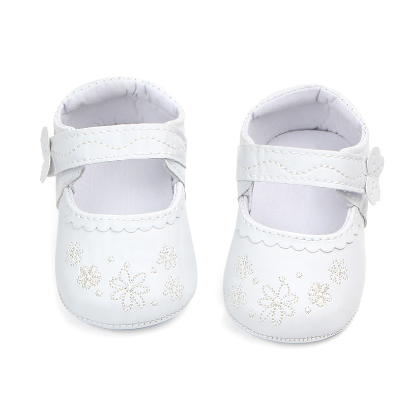 Hot Spring Summer Newborn The First Walker Shoes Baby Girl Solid Color Embroidery Toddler Shoes Fashion Baby Toddler Shoes