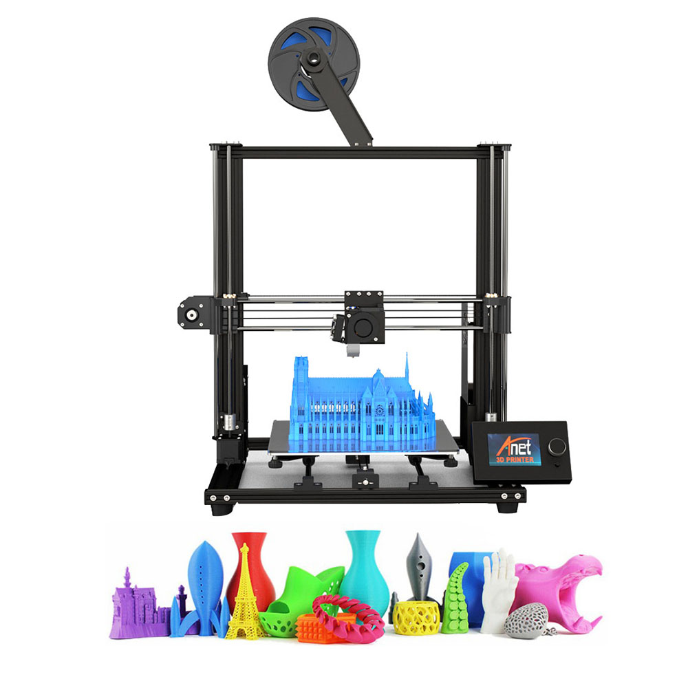 "3D Printer 11.8"" x 11.8"" x 13.8"" Pro Printing Large Print Size Full Color DIY Assembled Nozzle Heat Bed New SD998(China)"