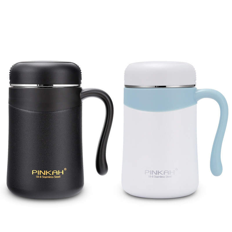 2019 New Arrival Pinkah 380ml Coffee Thermos Home Insulated Cup Office Cup 304 Stainless Steel Handgrip Vacuum Travel Mug in Vacuum Flasks Thermoses from Home Garden