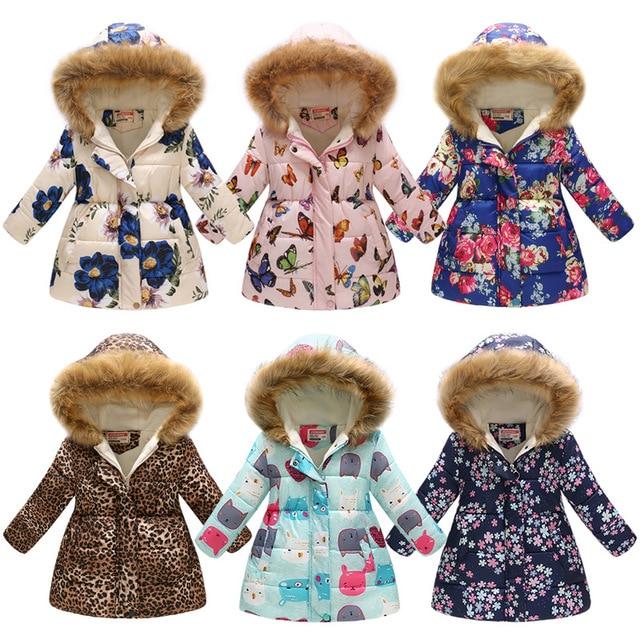 Cheap Winter Girls Jackets Children Outerwear Teenager Windbreaker Parkas Baby Jacket Girls Coat Down Kids Clothes Winterjas Meisjes