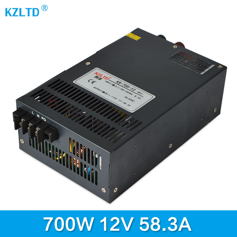 Switching Power Supply 12V 700W Power Transformer 12V AC-DC 220 to 12V Transformer Uninterruptible Power Supply  High Efficiency meanwell 12v 75w ul certificated nes series switching power supply 85 264v ac to 12v dc