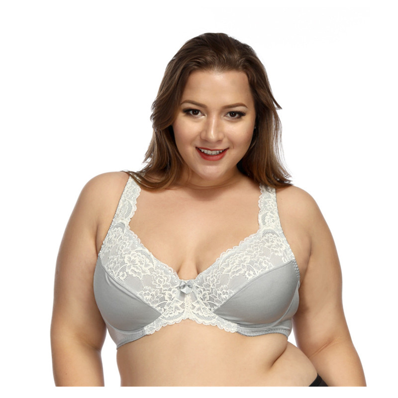 2ff21028981af Ultra-thin padded steel plate hit color lace sexy bra full cup breathable large  size. US  14.80. Big Breast ...