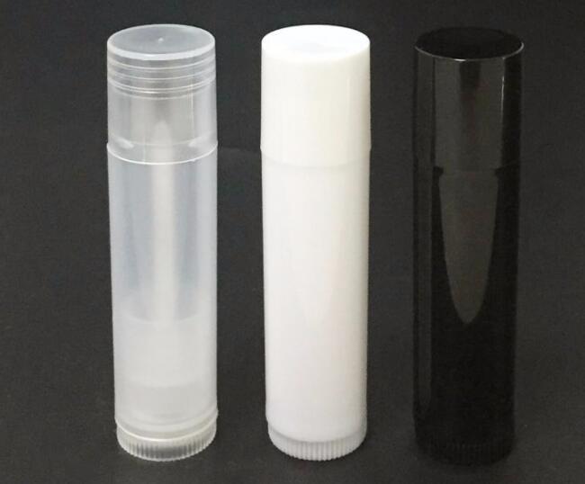 10 Teile/los Leer Klare Lippenbalsam Tubes Container 5 Ml Transparent/schwarz/weiß Lippenstift Haut Pflege Werkzeuge