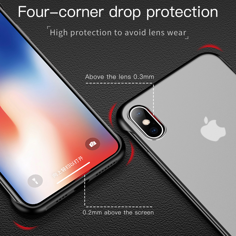 Ultra thin Soft Silicone Case Transparent Matte Back Cover For iPhone 6 6s 7 8 Plus X XR XS Max Case With Finger Ring Coque in Fitted Cases from Cellphones Telecommunications