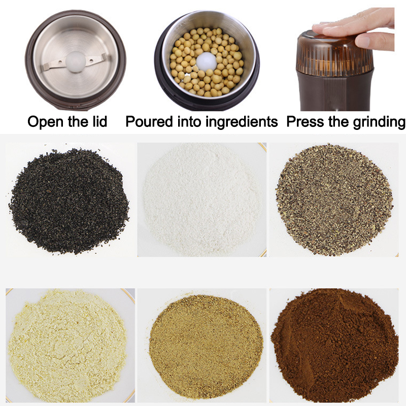 Grinder grinding machine grinding powder coffee beans grinders home appliances electric whole grains superfine 454g gold medal socona coffee beans coffee powder green slimming coffee beans tea