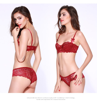 New Lace French Sexy Thin Cotton Bra Suit 1