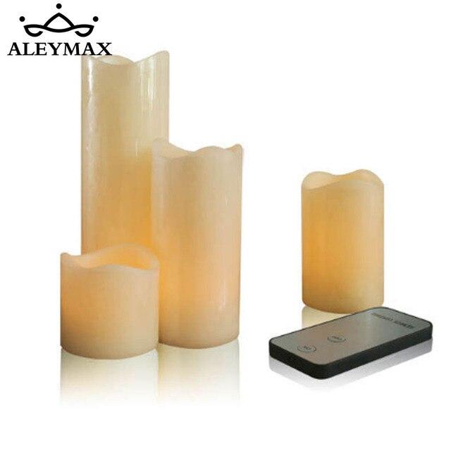 4 Teile Satz Fernbedienung Elektrische Kerzenlicht Yellow Flickering