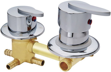 Copper shower room mixer , 2/3/4/5 way water outlet shower room mixing valve shower cabin , shower room faucet head accessories