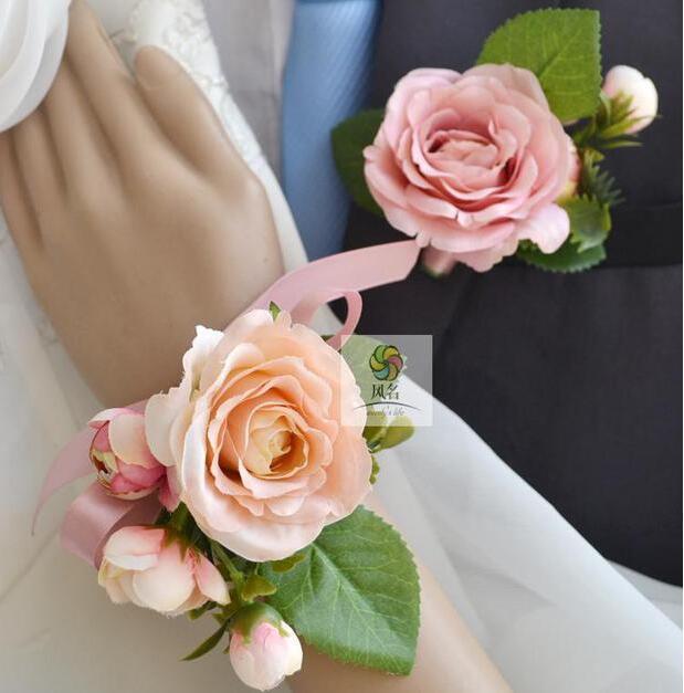 popular pink wrist corsage buy cheap pink wrist corsage. Black Bedroom Furniture Sets. Home Design Ideas