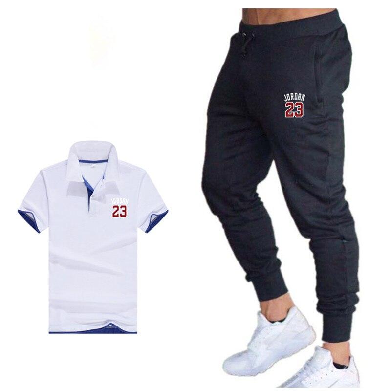 Homme Survêtement T shirt court définit deux pièces jogging costume de sport de tops bas