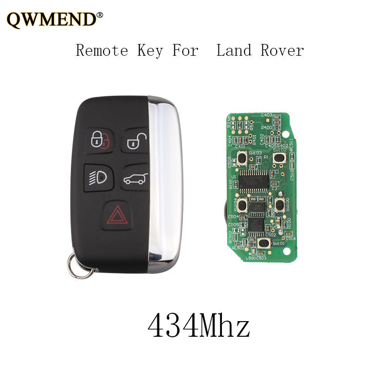 QWMEND 434Mhz Car Smart Remote Key DIY For Land Rover