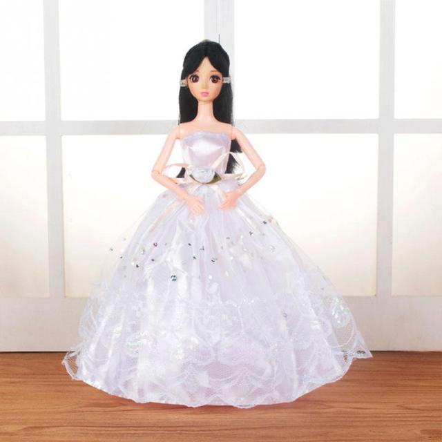 12 Warna Elegan Pakaian Musim Panas Gaun untuk Barbie Boneka Buatan Tangan  Pernikahan Gaun Putri Beaty bf880d4cb3