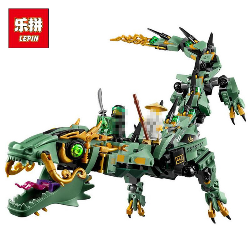 Lepin 06051 592pcs Movie Series Flying mecha dragon Building Blocks Bricks Toys  Children 70612 Gifts Compatible Ninja hc9009 1650pcs pikachu cartoon movie series without original box building blocks diamond bricks toys compatible with loz